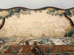 Antique French Settee Antique French Sofa W Aubusson Upholstery For Sale Old Plank