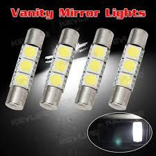 lexus gx470 led interior lights 4pcs white 5050 3 led car interior vanity mirror lights sun visor