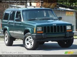 2001 Jeep Cherokee Sport Interior Forest Green Pearlcoat 2001 Jeep Cherokee Sport Agate Interior