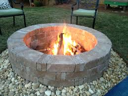 concrete fire pit exploding articles with pea rock around fire pit tag best rocks for fire pit