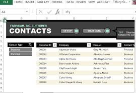 Excel List Templates Customer Contact List Template For Excel