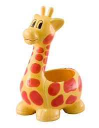 Animal Pots by Dl4048 G Jungle Giraffe Baby Pottery 6 Inch