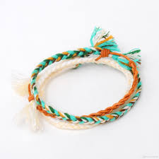 multi braid bracelet images Popular unisex charm bracelets simple multi color couples jpg