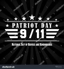 9 11 Remembrance Flag Patriot Day Dark Background 9 11 Stock Vector 689366629 Shutterstock