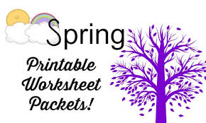 spring themed free worksheets for kids over 300 pages
