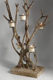 tree branch candle holder great idea for a driftwood tea light holder свещи свещници
