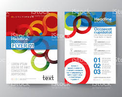 circle layout vector abstract circle ring background for poster brochure flyer layout