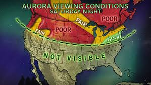 northern lights location map northern lights might make a visit to parts of the us tonight