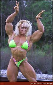 Muscle Woman Meme - what s the matter can t stand the sight of a strong nord woman by