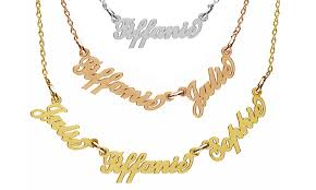 name gold necklace jewellshouse up to 84 groupon
