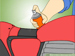 4 ways to make a motorcycle seat pad wikihow