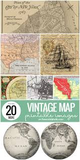Vintage Maps Remodelaholic 20 More Free Printable Vintage Map Images