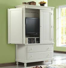 White Armoire Bedroom Furniture Homelegance Pottery 44 Inch Tv Armoire In White