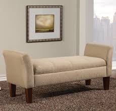 Bedroom Sofa Bench Beige Fabric Storage Bench Steal A Sofa Furniture Outlet Los