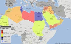 map arab world map of the arab by country targetmap