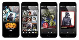 wars cards topps company releases wars card trader a digital trading