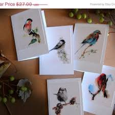 painting greeting cards in watercolor bird watercolor painting print bird from canotstopprints on