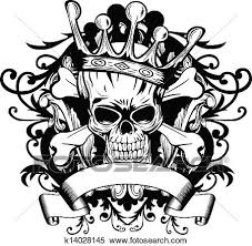 clipart of skull with crown k14028145 search clip