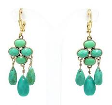 monet earrings faux turquoise drops monet earrings