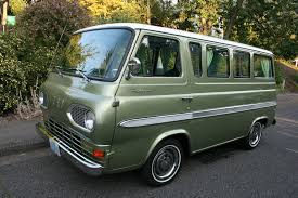 Vintage Ford Econoline Truck - so i may have seen one of the coolest chevy vans ever yesterday