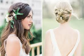 bridal hairstyles 20 bridal hairstyles with real flowers southbound 50th