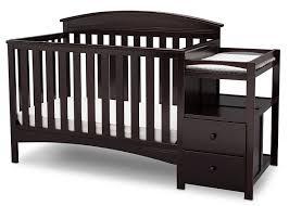 black crib with changing table amazon com delta children abby convertible crib n changer dark