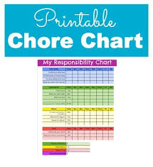 fantastic responsibility and chore chart for kids this includes a