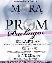 mora salon prom packages