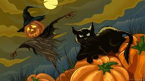halloween horizontal background halloween cat wallpapers u2013 festival collections