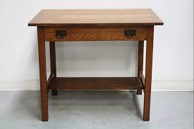 Gustav Stickley Desk Redlands Antique Auction Archive