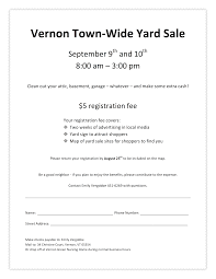 sign up now for the vernon town wide tag sale sept 9 10 2017