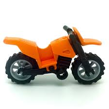 toy motocross bike lego orange motorcycle dirt bike with kickstand motocross city