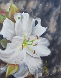 white lilly white 11x14