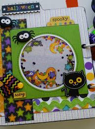 halloween mini album scrapbook com mini album pinterest