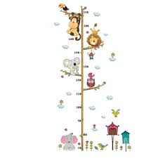 popular kids removable wall stickers buy cheap kids removable wall cartoon animals wall sticker kids height measuring wallpaper baby children room wall decal decorations removable wall