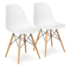 set of 2 eames style dining chair mid century modern molded