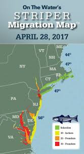 Map Of Cape Cod Massachusetts by Striper Migration Map April 28 2017 On The Water