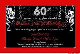 vegas 60th birthday invitation cards slots u0026 fun
