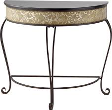 Half Moon Accent Table Fingerhut River Of Goods Half Moon Accent Table