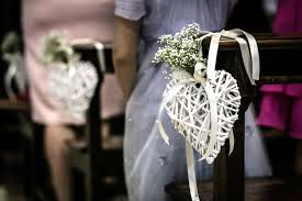 church decorations for wedding lovely decor for a church ceremony with heart and baby breath