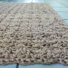 Crochet Bathroom Rug by Crocheted Jute Rug Using Three Strands Of Three Ply Jute Twine I