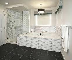 subway tile bathroom floor ideas blue subway tile bathroom traciandpaul com
