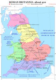 Roman Map Roman Britain 410 A Wasted Land Pinterest Roman Britain