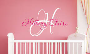 Baby Wall Decals For Nursery by Baby Nursery Wall Decal Monogram Name By Justthefrosting
