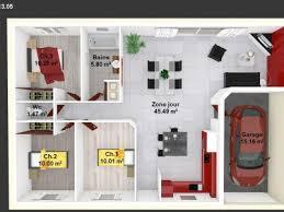 plan de maison 100m2 3 chambres terrains maisons maisons lara