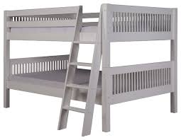 Low Headboard Beds by Camaflexi Full Over Full Low Bunk Bed Mission Headboard Angle