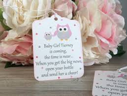 owl baby shower favor tag owl first birthday party favor tag
