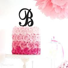b cake topper b cake topper letter initials wedding minecraft toppers party city