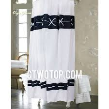 Nautical Shower Curtains White And Cross Patterned Nautical Best Designer Shower Curtains