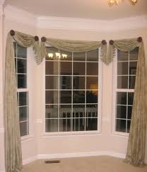 top bay window treatments drapery hardware curtain rods home design and decor pretty window scarf ideas bay window asymmetrical window scarf ideas bay window treatmentswindow coveringswindows